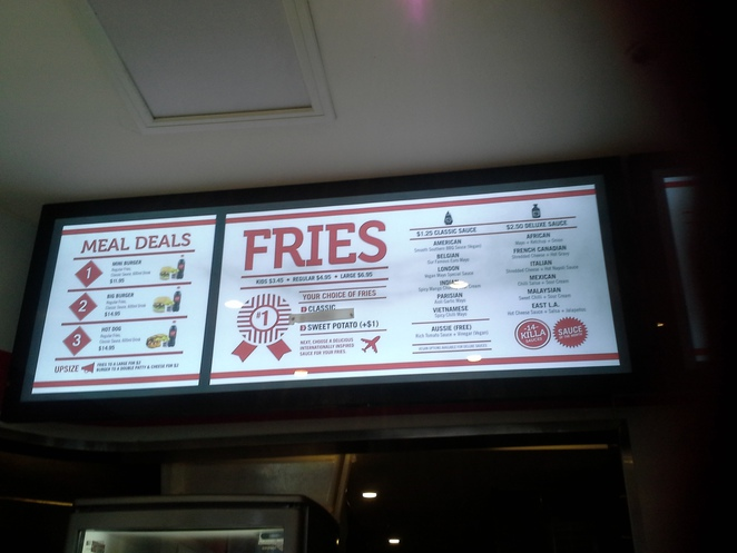 Lord of the Fries menu