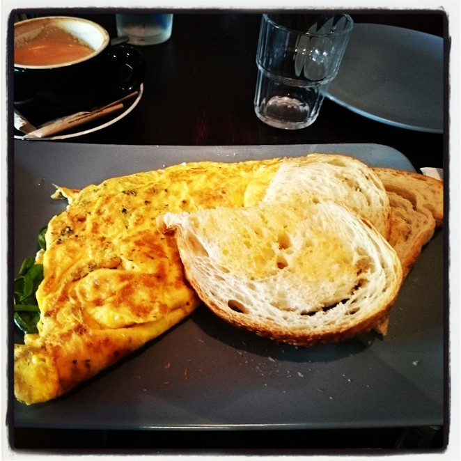 Goat's Cheese Omelette