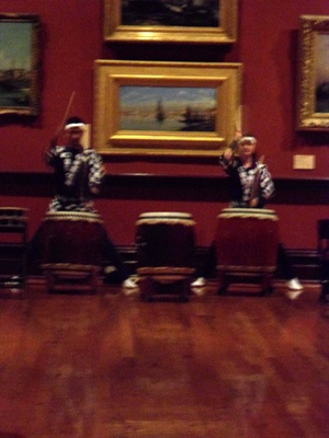 Wadaiko Rindo drumming ensemble at Bendigo Art Gallery