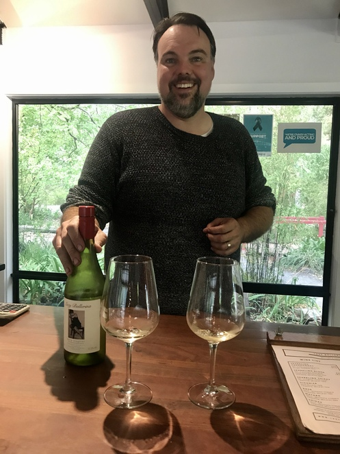 James and the wines at Lazy Ballerina