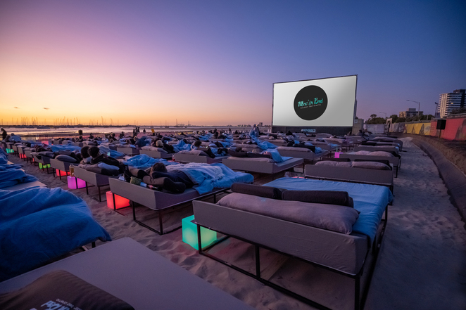 movie, movies, cinema, outdoor cinema, movinbed
