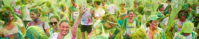 MS Colour Dash, MS fun run