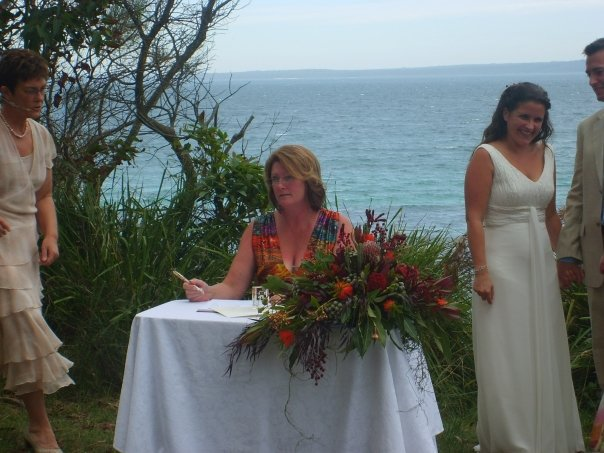 Open air wedding, marriage celebrant, beach wedding