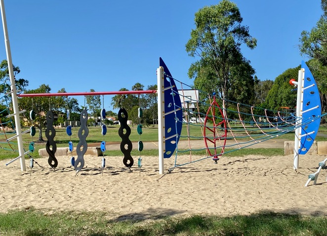 A more recently updated playground at Raby Bay Esplanade Park