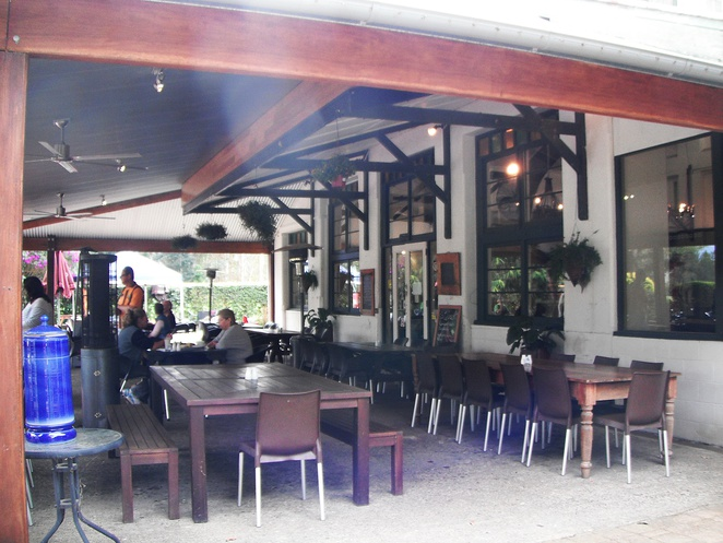 outdoor cafe seating