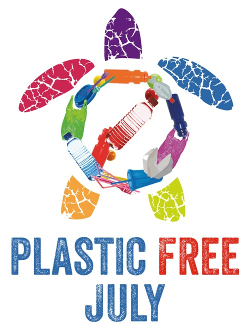 plastic free july, plastic, logo, western earth carers