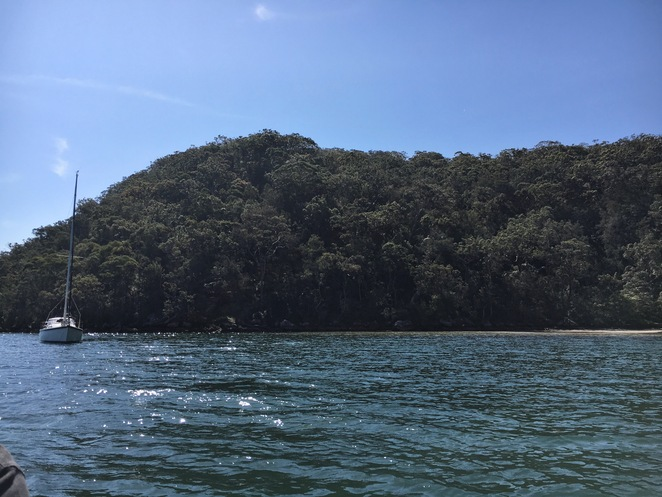 Secluded Cove, Water, Boat, Cottage Point
