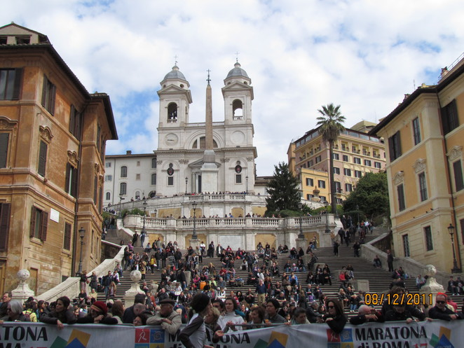 Spanish Steps, Rome on Marathon Day