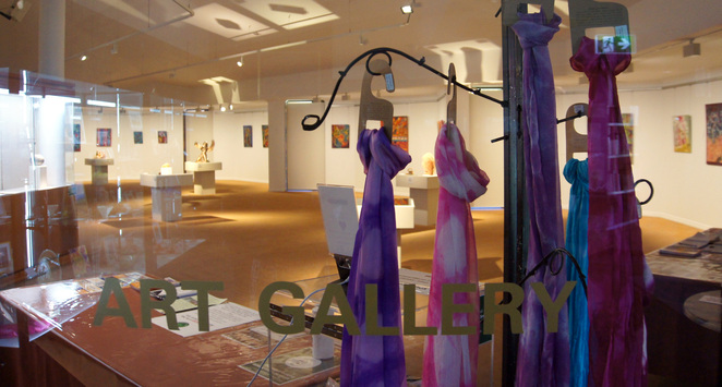 Scarves for sale at the Stanthorpe Regional Art Gallery