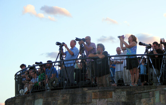 Photographing and viewing the supermoon is popular