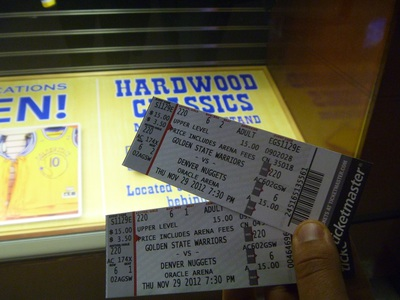 Tickets, oracle arena