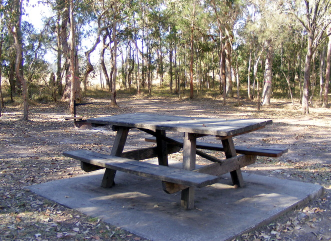 The are also a couple of picnic tables at the camp site