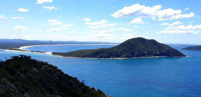 Views, nature, scenery, environment, Nelson Bay, Port Stephens. walk, history, bush, family