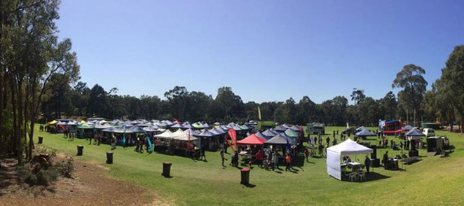 Wide view of Cross Park, home of the Roleystone Markets