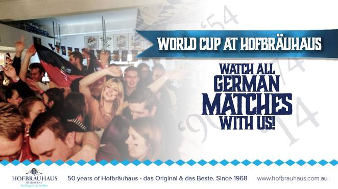 world cup at hofbrauhaus melbourne, world cup, hofbrauhaus melbourne, community event, fun things to do, restaurant, bavarian food, traditional bavarian, german food, bar, germany soccer, german soccer, big screens, big steins, big fun, date night, soccer fans, nightlife
