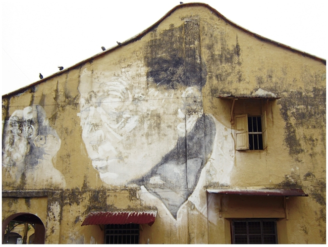 Armenian Street, Penang Street Art, Mural, Ernest Zacharevic, This Old man,