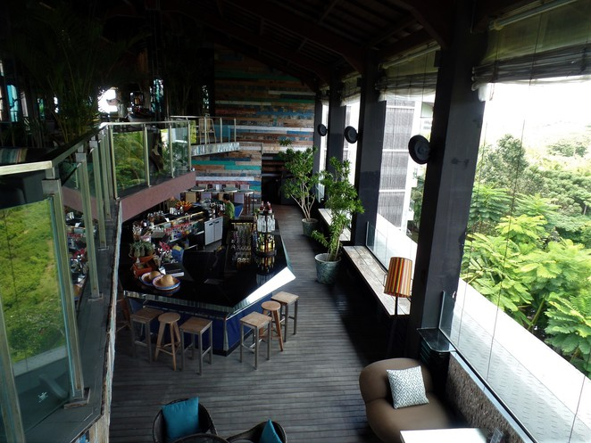 bar in UNIQUE Rooftop Bar & Restaurant at Rimba Jimbaran Bali by AYANA
