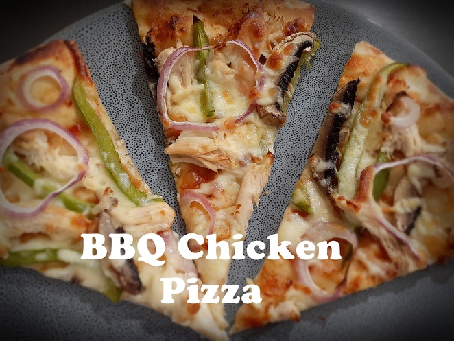 bbq chicken pizza, bbq chicken, recipes, vegetables, australia, bbq chicken, capsicum, red onion, mushrooms, tomato relish, pizza recipes, dinner, easy, lunch, family, kids, children, bbq sauce,
