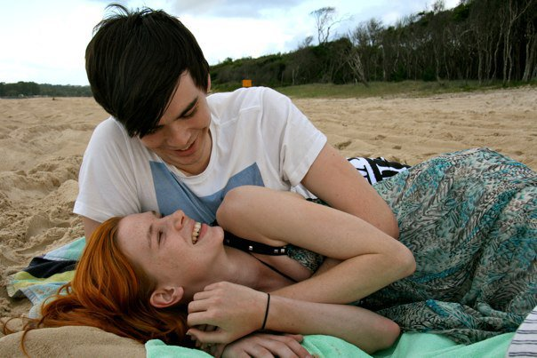 Beach, Cuddles, Noosa, North Shore, Couple, Together