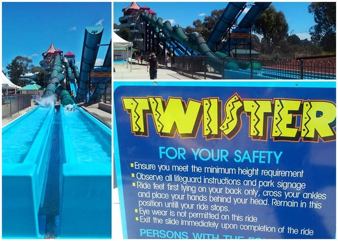 Big SPlash Waterpark, Canberra, swimming, kid friendly, pools, laps, kids rides, twister,