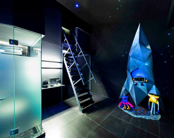 Blue Space Room