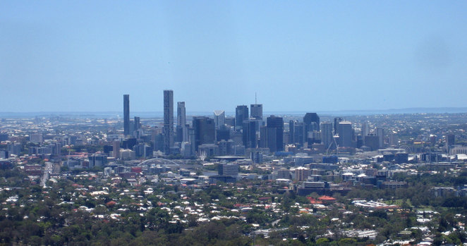 View of Brisbane City from Mt Coot-tha