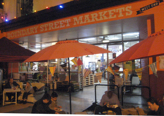 The Boundary Street Markets is a great place to find food, shopping and entertainment all in one place