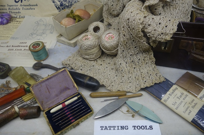 Personal craft items from a social display - Bulli Black Diamond Museum and Heritage Centre