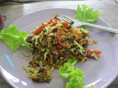 Burmese Tea Leaf salad, Free Bird Cafe, Chiang Mai