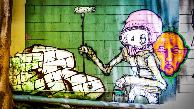 coffee iconic, coffee, iconic, garden, cafe, street art, mural, Brisbane