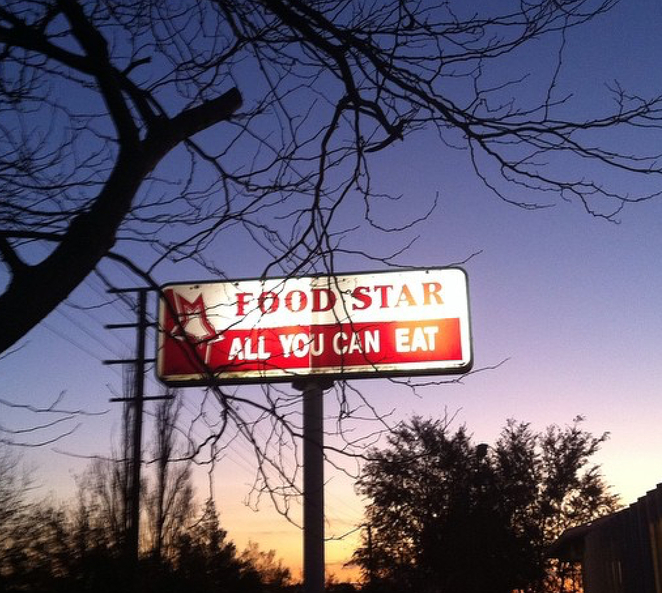 Food star, all you can eat. Restaurant, good food