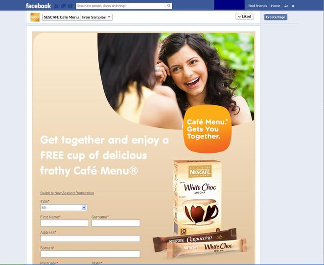 Free Samples, online, free stuff, Facebook, Nestle coffee