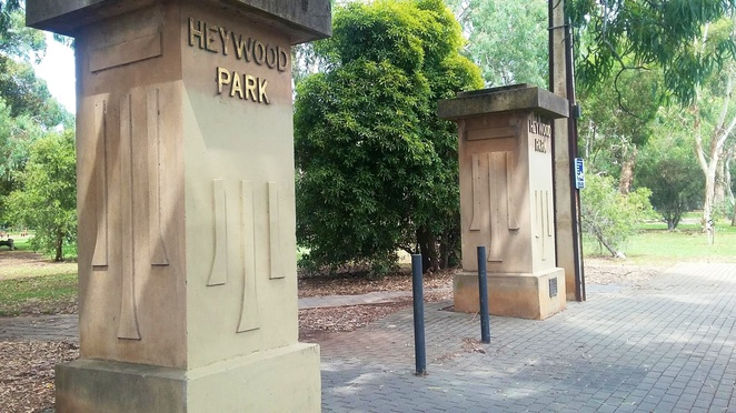 Heywood Park pillars