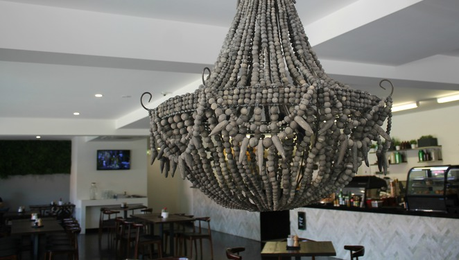 humble quinoa indooroopilly restaurant cafe suburb chandelier interior