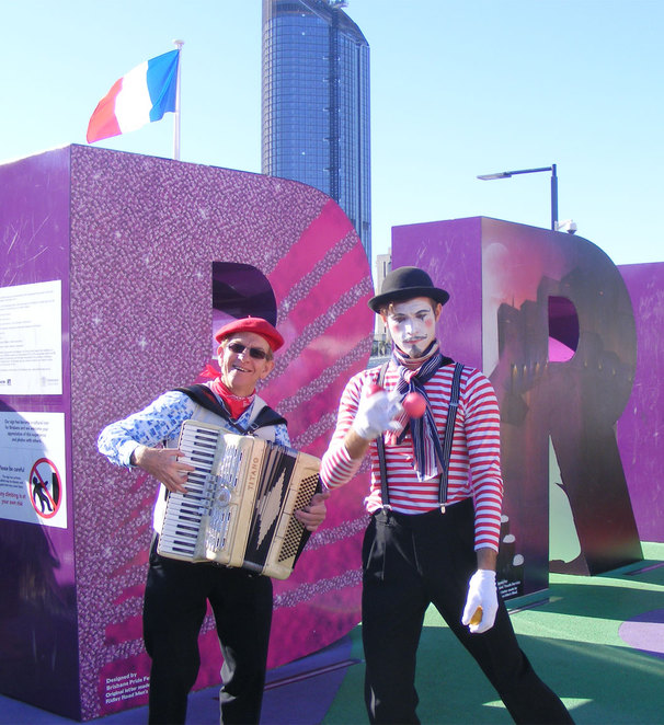 Performers at the Brisbane French Festival