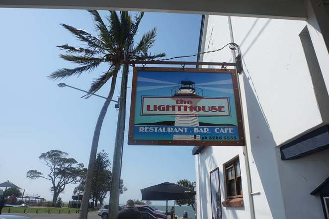 Lighthouse Restaurant Sign