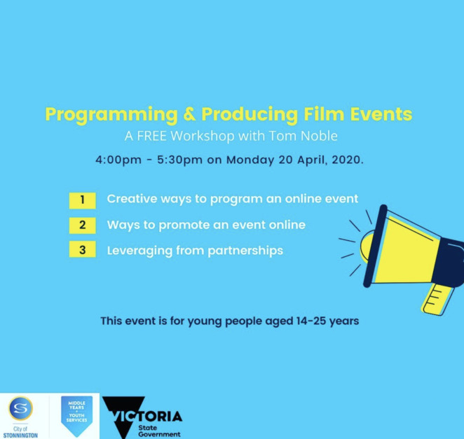programming and producing film events, musiciniso, music video at home competition, expressions youth cinema 2020, stonnington youth 2020, free virtual youth cinema event, short films for free, exploring diversity in film free, city of stonnington, middle years youth services, victoria state government, film, art, fun things to do, community event, films in isolation, covid-19, corona virus