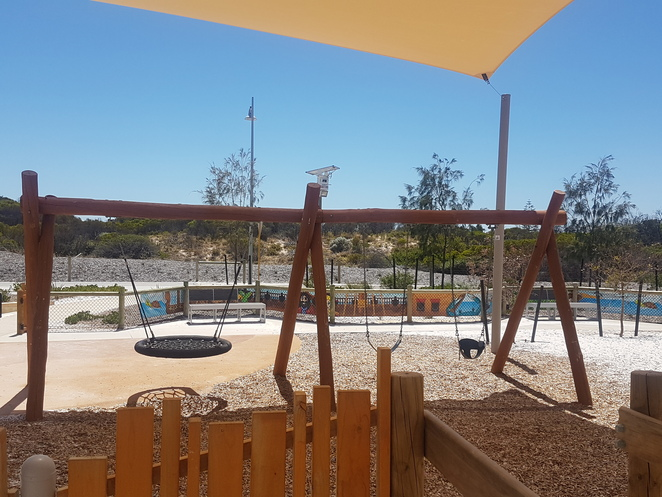 shipwreck cove golden bay playground swings