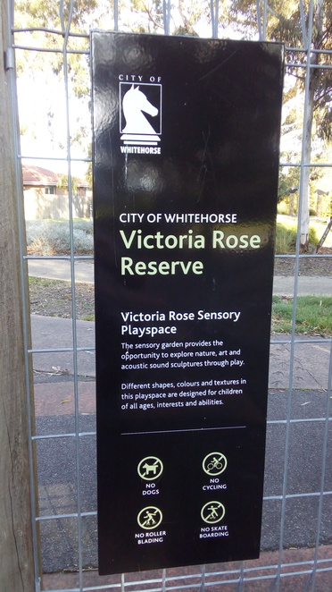 sign victoria rose playspace sensory park