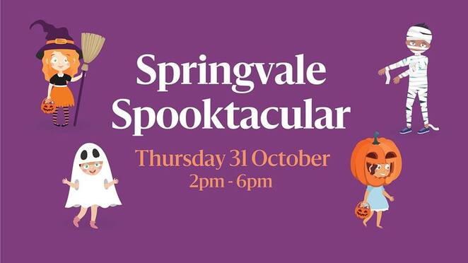 springvale spooktacular 2019, community event, fun things to do, free halloween event, trick or treat, halloween costume, face painter, magician, springvale home maker, halloween costume, win a gift card, fun for kids, enterttainment