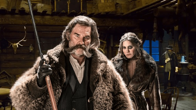 Quentin Tarantino's The Hateful Eight - Kurt Russell and Jennifer Jason Leigh