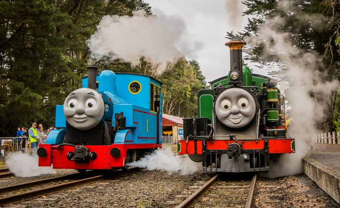 Thomas the Tank Engine Train Rides at Puffing Billy Train Station in Gembrook