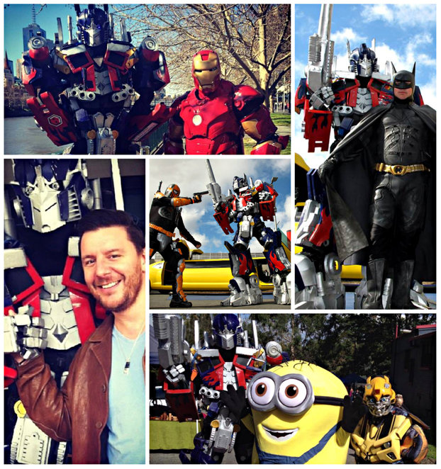 transformer, melbourne transformers, optimus prime, bumble bee, iron man, ironman, batman, aj, hasbro, charity events, corporate party, kids party