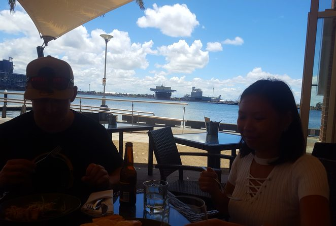 Views, Newcastle, waterfront, relaxation, lunch, food, wine