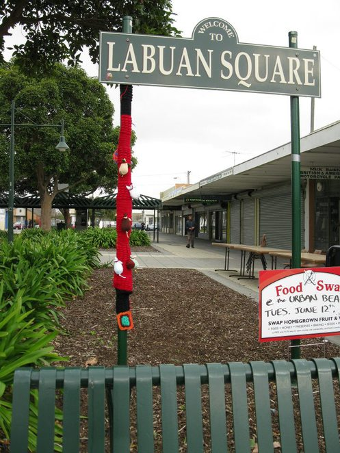 Yarn Bombing Street Signs