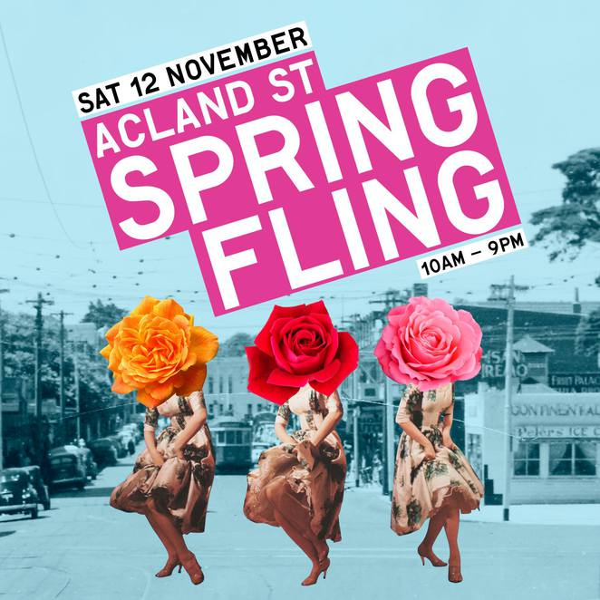 acland street spring fling 2016, st kilda, live music, children's activities, family fun, roving entertainment, dance, readings, open air ball, shopping, cafes, restaurants, bars, brian nankervis, bo svoronos, block party discoyoga with nickie hanley, indigenous hip hop projects, cafe scheherazade and other tales iwth arnold zable, zeon, yung warriors, ras jahknow, that gold street, masquerade ball, fairy lights, face painting by sparkles, story time, port phillip library service, springtime origami with paperlab, circus workshop, fly for fun, krafty kats, a taste of tap, melbourne tap dance, african star dance and drumming company, zumba united, community event