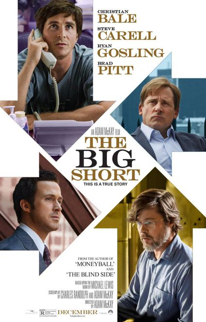Big Short, Carell, Gosling, Pitt, Bale, Oscars