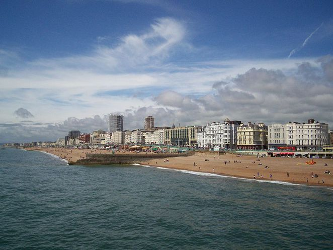 brighton, seaside, coast, beach