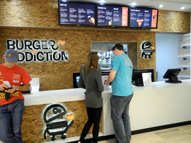 burger addiction, rundle place, food court, 77, adelaide, rundle mall