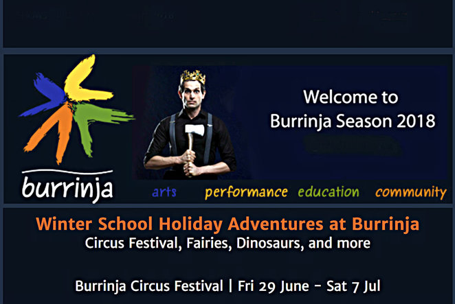 burrinja, winter school holiday adventures at burrinja, burrinja circus festival, school holiday activities, fun for kids, family fun, fun things to do, community event, upway, circus, entertainment, performing arts, shows, gigs, theatre, the arts